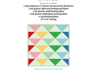 Load image into Gallery viewer, Pattern, Rainbow Geese Pillow Cover / MINI Quilt by Ellis & Higgs (digital download)