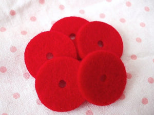 Red Spool Pin Felts (5)