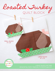 Pattern, Roasted Turkey Quilt Block by Ellis & Higgs (digital download)
