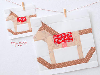 Load image into Gallery viewer, Pattern, Rocking Horse Quilt Block by Ellis & Higgs (digital download)