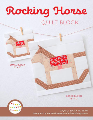 Pattern, Rocking Horse Quilt Block by Ellis & Higgs (digital download)