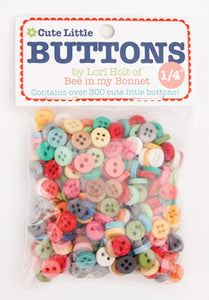 "Buttons, Lori Holt 1/4"" Cute Little Button Packet of 300"