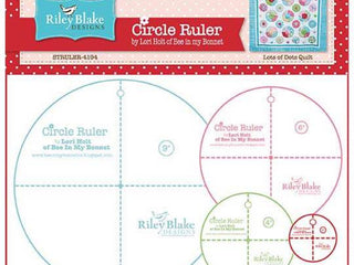 "Load image into Gallery viewer, Cutting Ruler SET, Circle Ruler by Lori Holt - 2"", 4"", 6"" and  9"""