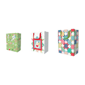 Bag, CHRISTMAS Gift Bags Set of 24 by Lori Holt