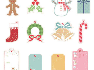 Load image into Gallery viewer, Gift Tags, CHRISTMAS Gift Tags by Lori Holt