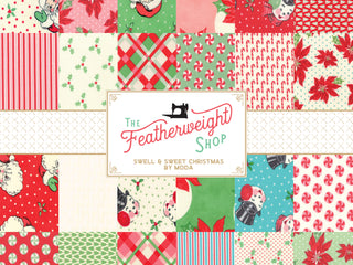 Load image into Gallery viewer, Fabric, Swell Sweet Christmas Marzipan by Urban Chiks for Moda - POINSETTIA BLUE DOT (by the yard)