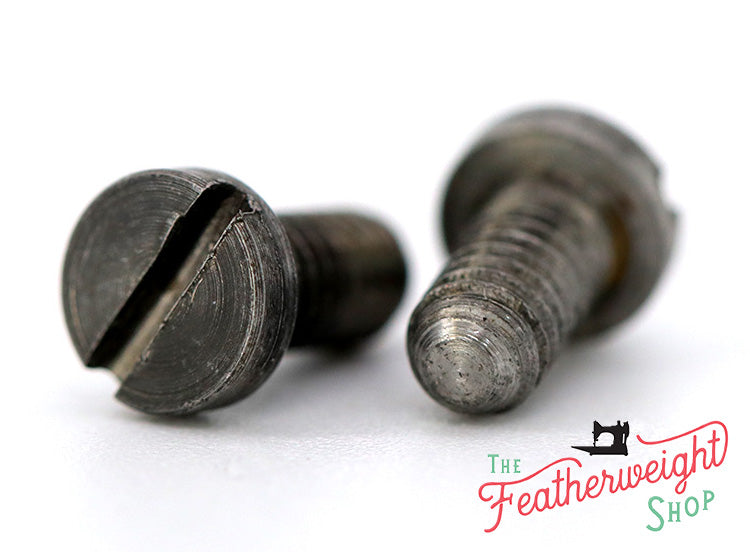 Screw, Feed Dogs, Set of 2 Singer Featherweight (Vintage Original)