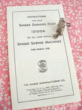 Singer Embroidery & Darning Foot, Vintage Original