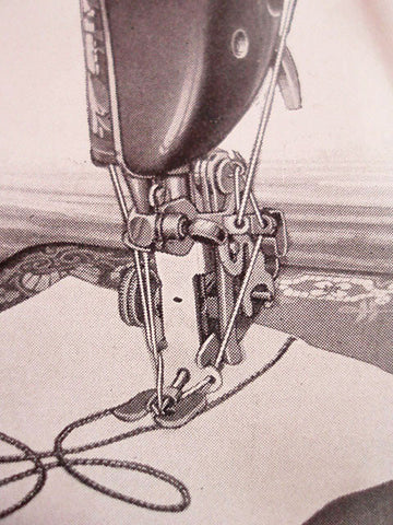 Single Thread Embroidery Attachment Vintage Singer The Singer Magnificent Embroidery Attachment For Sewing Machine