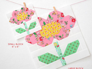 Load image into Gallery viewer, Pattern, Spring Flower Quilt Block by Ellis & Higgs (digital download)