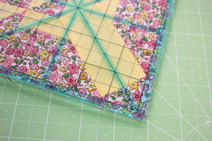 "Square Trim-It Cutting Ruler SET, Blue 2.5"", 3.5"", 4.5"", 5.5"" & 6.5"" by Lori Holt Cute Cuts (with self-grips)"