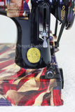 Singer Featherweight 221 Sewing Machine, PATRIOTIC One-Of-A-Kind Specialty - Painted