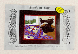 PATTERN, STITCH IN TIME Singer Featherweight Paper-Pieced Wall-Hanging