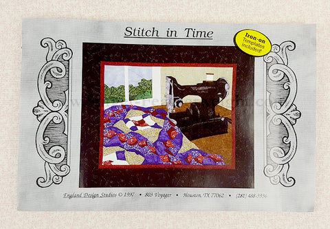 "PATTERN, Singer Featherweight Paper-Pieced Wall-Hanging ""A Stitch in Time"""