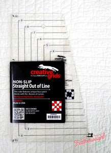 Cutting Ruler, CREATIVE GRIDS Straight Out Of Line 6