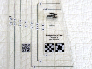 "Load image into Gallery viewer, Cutting Ruler, CREATIVE GRIDS Straight Out Of Line 6"" x 10"" Quilt Ruler"
