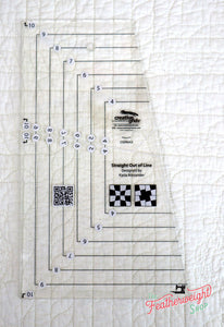 "Cutting Ruler, CREATIVE GRIDS Straight Out Of Line 6"" x 10"" Quilt Ruler"