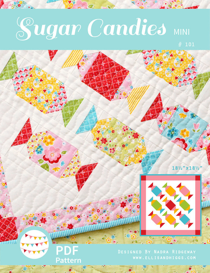 Pattern, Sugar Candies MINI Quilt by Ellis & Higgs (digital download)