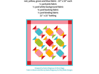 Load image into Gallery viewer, Pattern, Sugar Candies MINI Quilt by Ellis & Higgs (digital download)