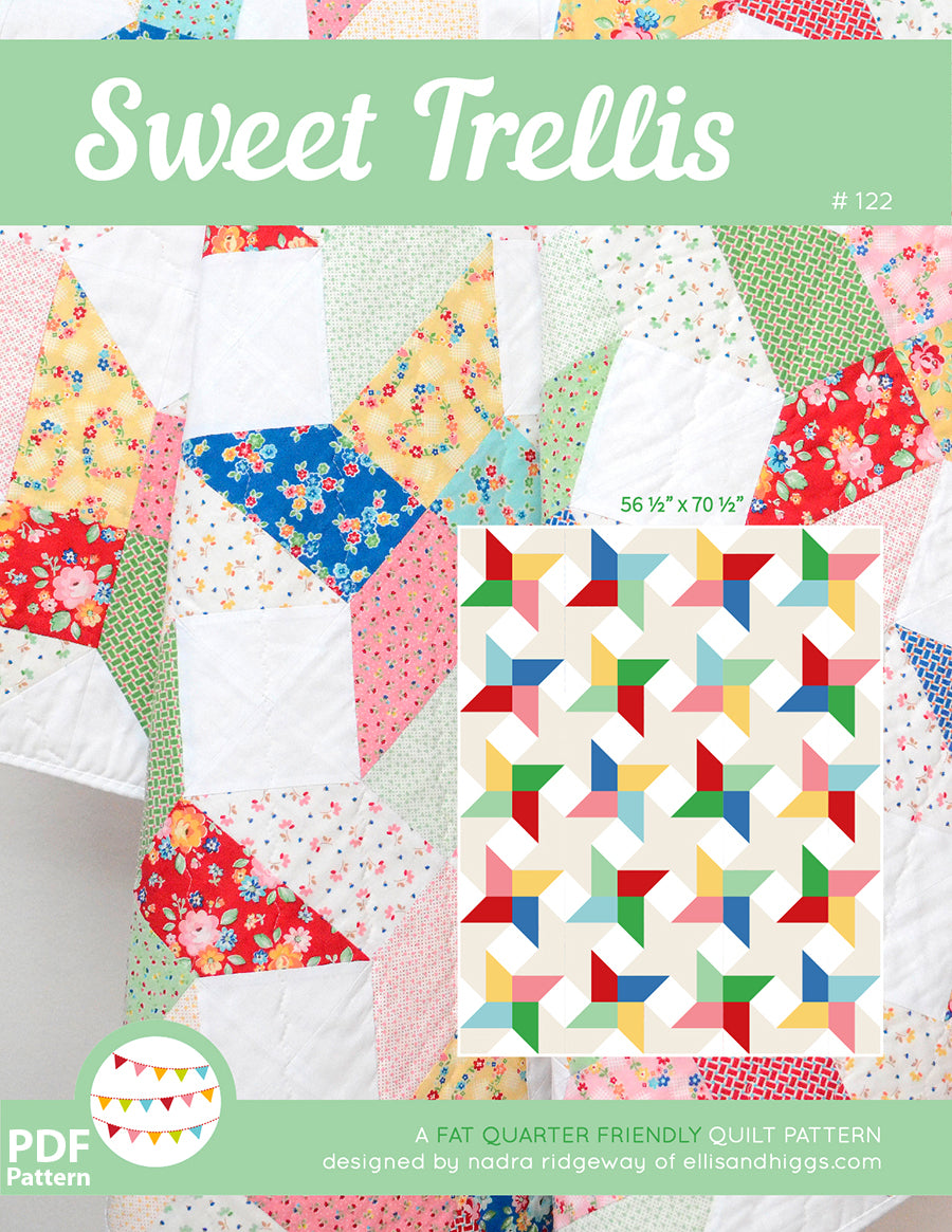 Pattern, Sweet Trellis Quilt by Ellis & Higgs (digital download)
