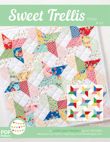 Pattern, Sweet Trellis MINI Quilt (digital download)
