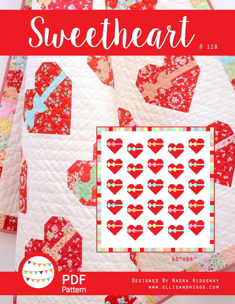 Pattern, Sweetheart Quilt by Ellis & Higgs (digital download)