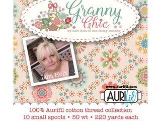 Load image into Gallery viewer, Aurifil Thread 50wt Cotton, 10 Color SET - Lori Holt GRANNY CHIC