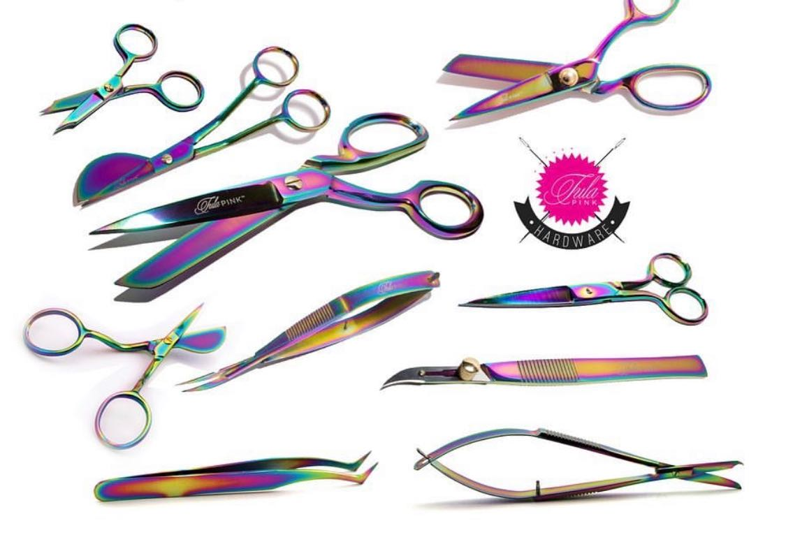 Tula Pink Hardware ~ 5 Inch Curved EZ Snip ~ Stainless Steel Snips Scissors