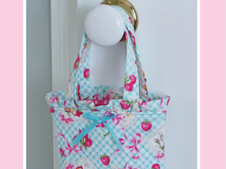 Load image into Gallery viewer, PATTERN, THANK HEAVEN FOR LITTLE GIRLS Small Bag by Kristyne Czepuryk Pretty by Hand