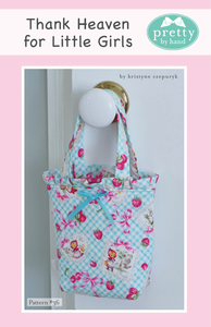 PATTERN, THANK HEAVEN FOR LITTLE GIRLS Small Bag by Kristyne Czepuryk Pretty by Hand