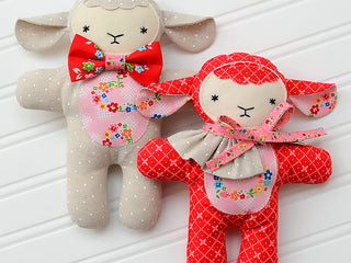 Load image into Gallery viewer, Pattern, Three Little Friends Toy Softies by Ellis & Higgs (digital download)