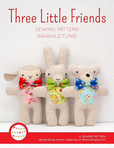 Pattern, Three Little Friends Toy Softies (digital download)