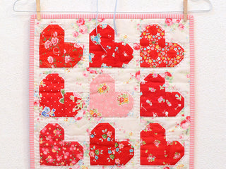 Load image into Gallery viewer, Pattern, Tiny Hearts MINI Quilt by Ellis & Higgs (digital download)