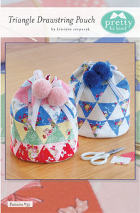 PATTERN, TRIANGLE DRAWSTRING POUCH Zippered Pouch by Kristyne Czepuryk Pretty by Hand