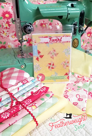 Quilt Kit, Butter Yellow TWIRL PINWHEELS featuring Cheeky Fabric by Urban Chiks