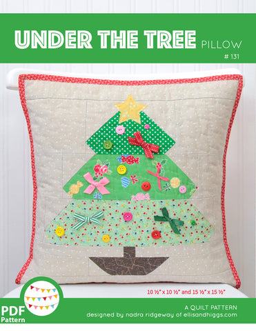 Pattern, Under The Tree Pillow Cover / MINI Quilt (digital download)