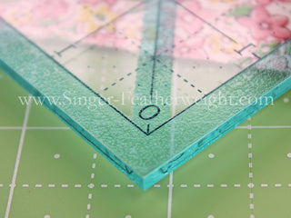 "Load image into Gallery viewer, Cutting Ruler SET, Square TRIM-IT, BLUE 2.5"", 3.5"", 4.5"", 5.5"" & 6.5"" by Lori Holt Cute Cuts (with self-grips)"