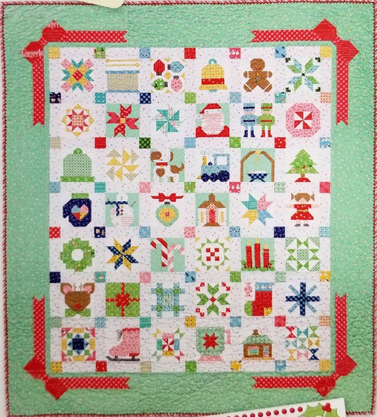 Christmas Quilt.Quilt Kit Cozy Christmas Fabric Collection Pattern Book Vintage Christmas By Lori Holt For Riley Blake