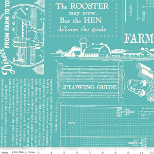 "Fabric, Farm Girl Vintage by Lori Holt WIDE BACK 108"" FARM LIFE COTTAGE (by the yard)"