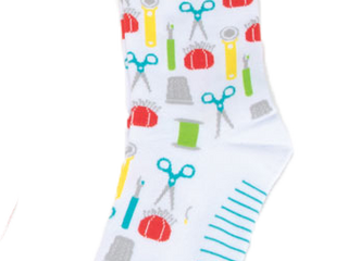 Load image into Gallery viewer, Quilt Socks, Fun Sewing & Quilting Sock Thoughts by Moda Fabrics
