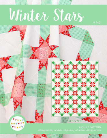 Pattern, Winter Stars Quilt by Ellis & Higgs (digital download)