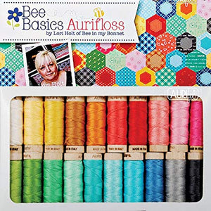 AURIFLOSS, Bee Basics 20 Spool Collection - Aurifil Embroidery Floss Thread by Lori Holt