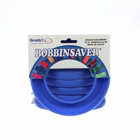 Bobbin Saver By GRABBIT - ROUND BLUE
