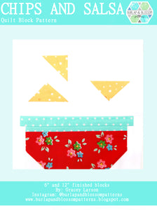 Pattern, Chips & Salsa Quilt Block by Burlap and Blossom (digital download)