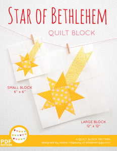 Pattern, Star of Bethlehem Quilt Block by Ellis & Higgs (digital download)