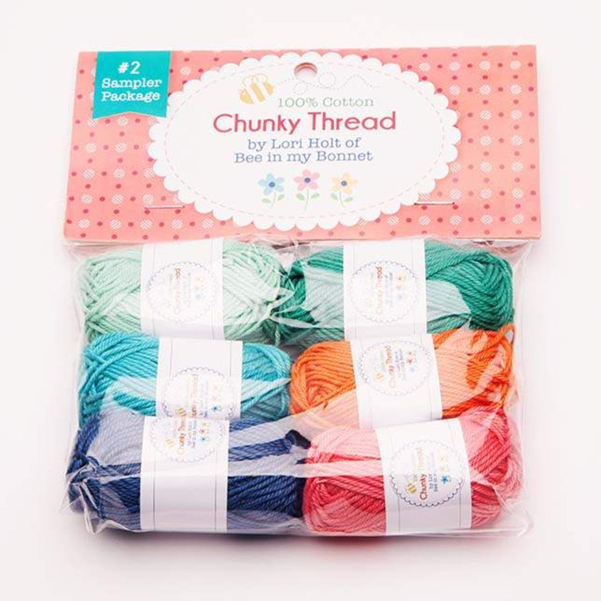 Crochet Chunky Thread, Lori Holt Sampler Pack #2