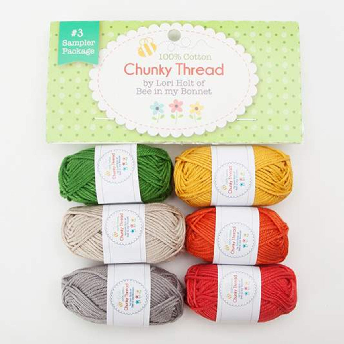 Crochet Chunky Thread, Lori Holt Sampler Pack #3
