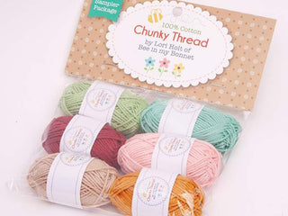 Load image into Gallery viewer, Crochet Chunky Thread, Lori Holt Sampler Pack #4