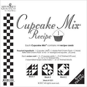 PATTERN, Miss Rosie's Quilt Co. - CUPCAKE Mix Recipe #1