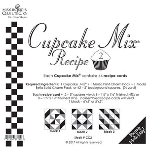 Pattern, Miss Rosie's Quilt Co. - CUPCAKE Mix Recipe #2